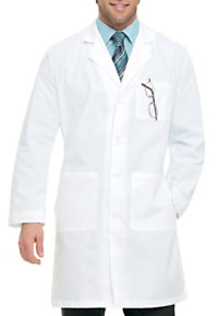 Landau Men's 39.5 Inch Full Length 4 Button Lab Coats