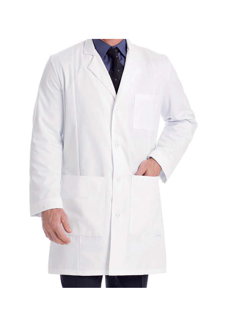 Landau Men's Lab Coats - White - 36 plus size,  plus size fashion plus size appare
