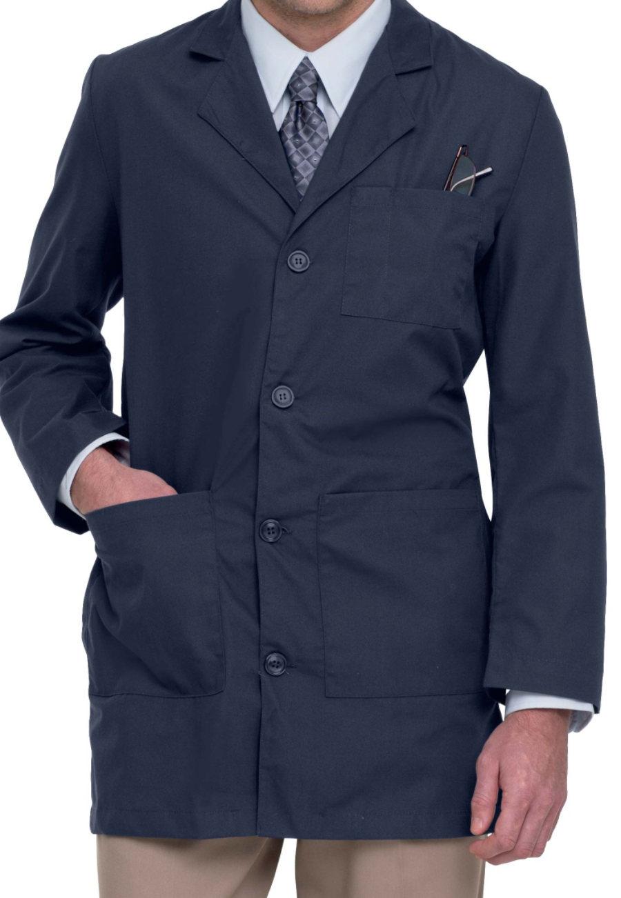 Landau Men's 35 Inch Tailored Lab Coats