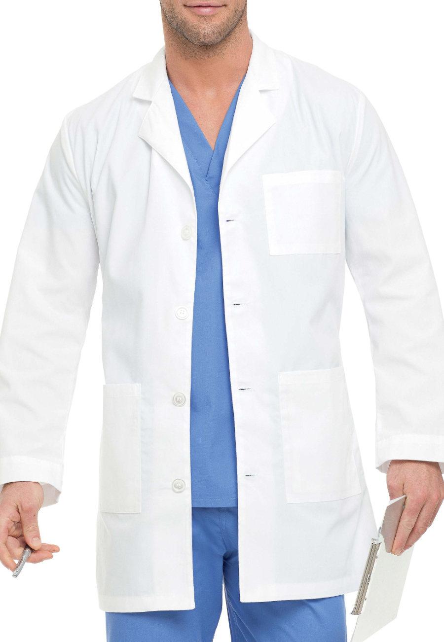 Landau Men's 35.5 Inch 4 Button Lab Coats