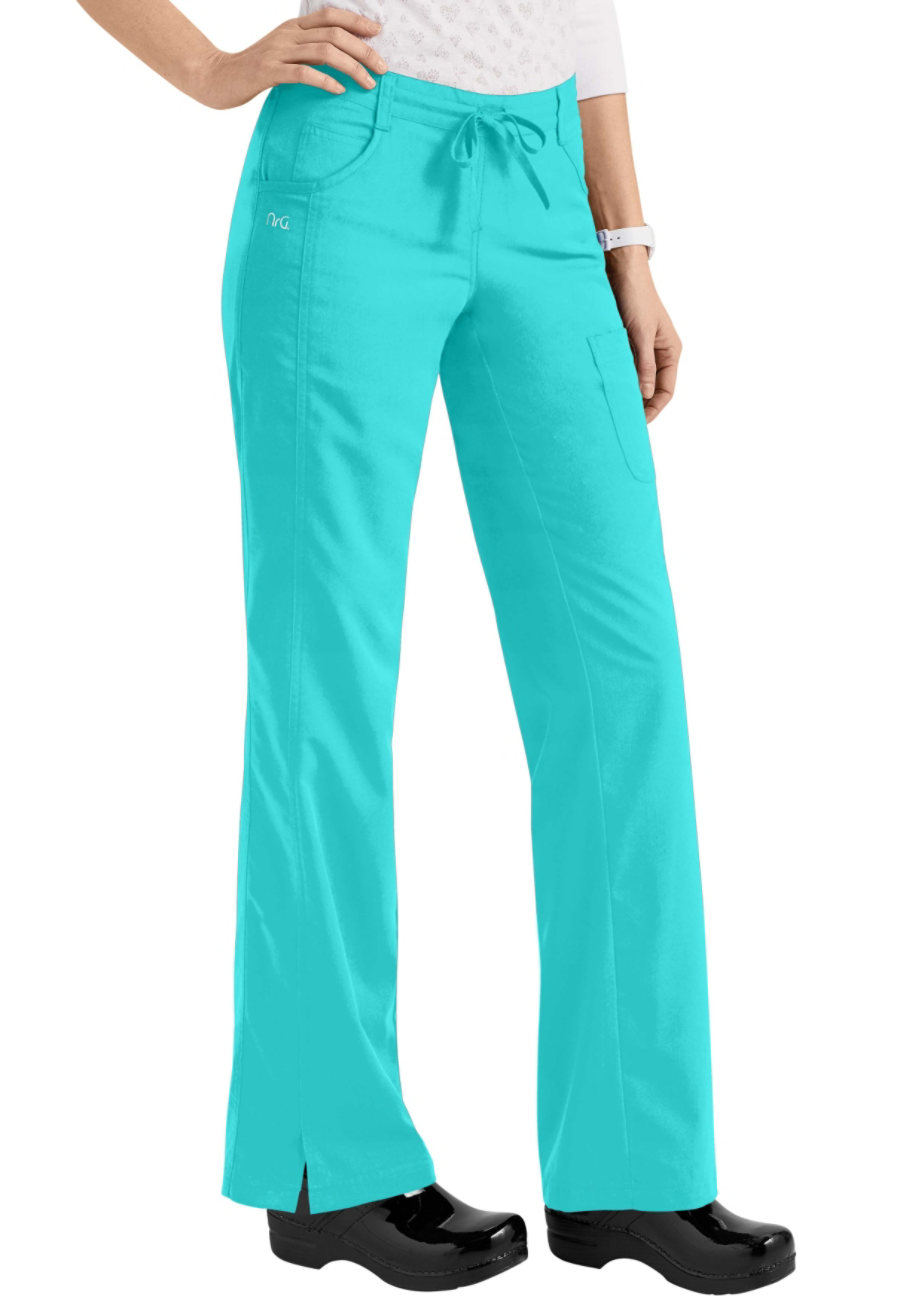 Barco NRG 4 Pocket Drawstring Scrub Pants - Aquamarine - 2X plus size,  plus size fashion plus size appare