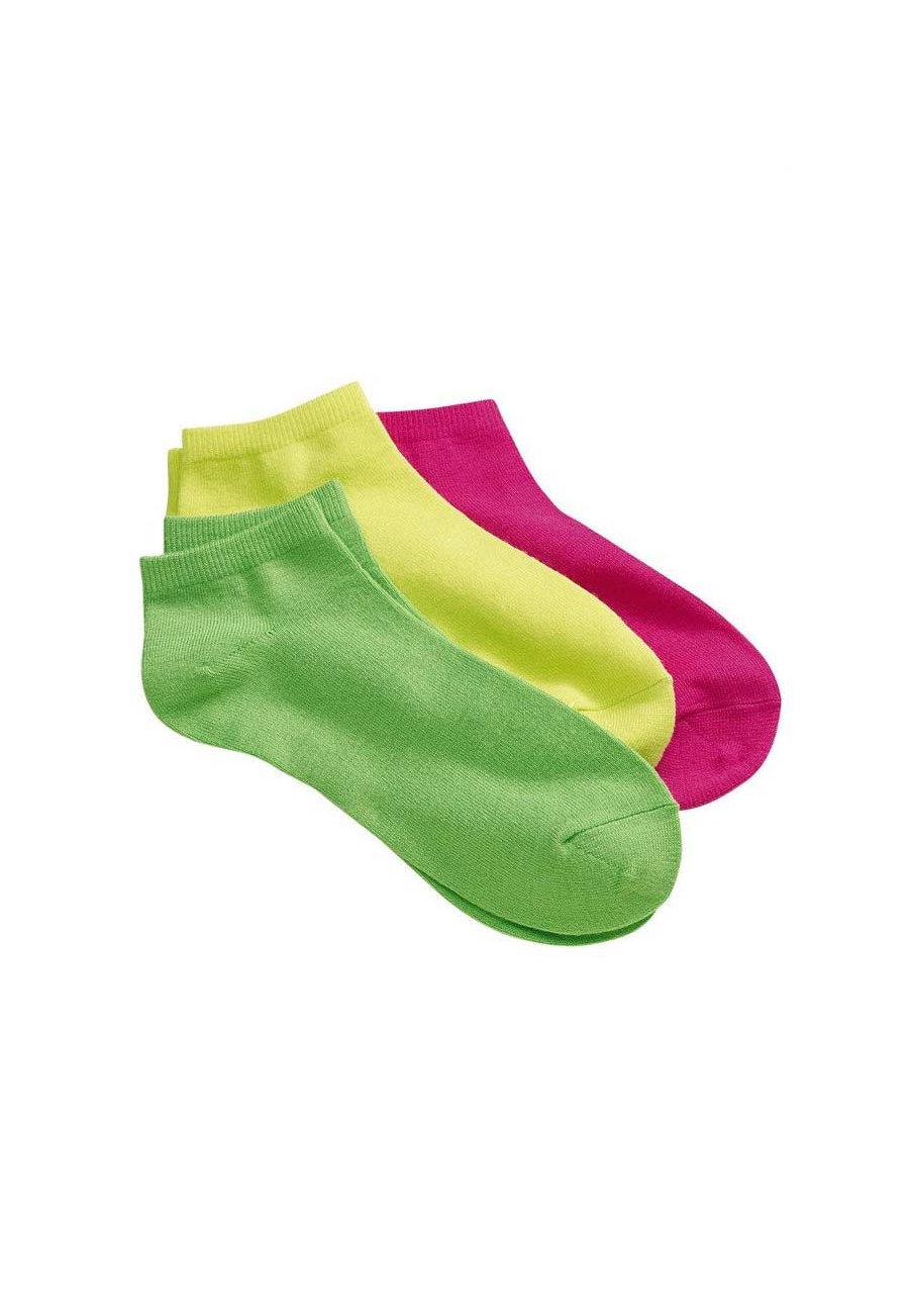 Prestige 3 Pairs Neon Nurse Ankle Socks - Multi