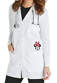 Cherokee Tooniforms Women's 32 Inch Minnie Mouse Pocket Lab Coat
