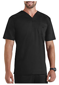 Landau Smart Stretch Men's V-neck Stretch Scrub Tops