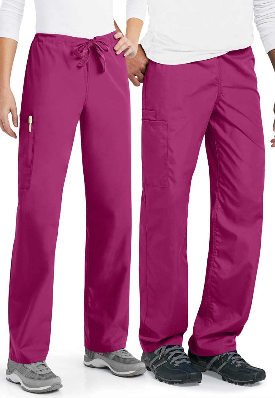 Cherokee Workwear Unisex Drawstring Cargo Scrub Pants - Azalea - 2X plus size,  plus size fashion plus size appare