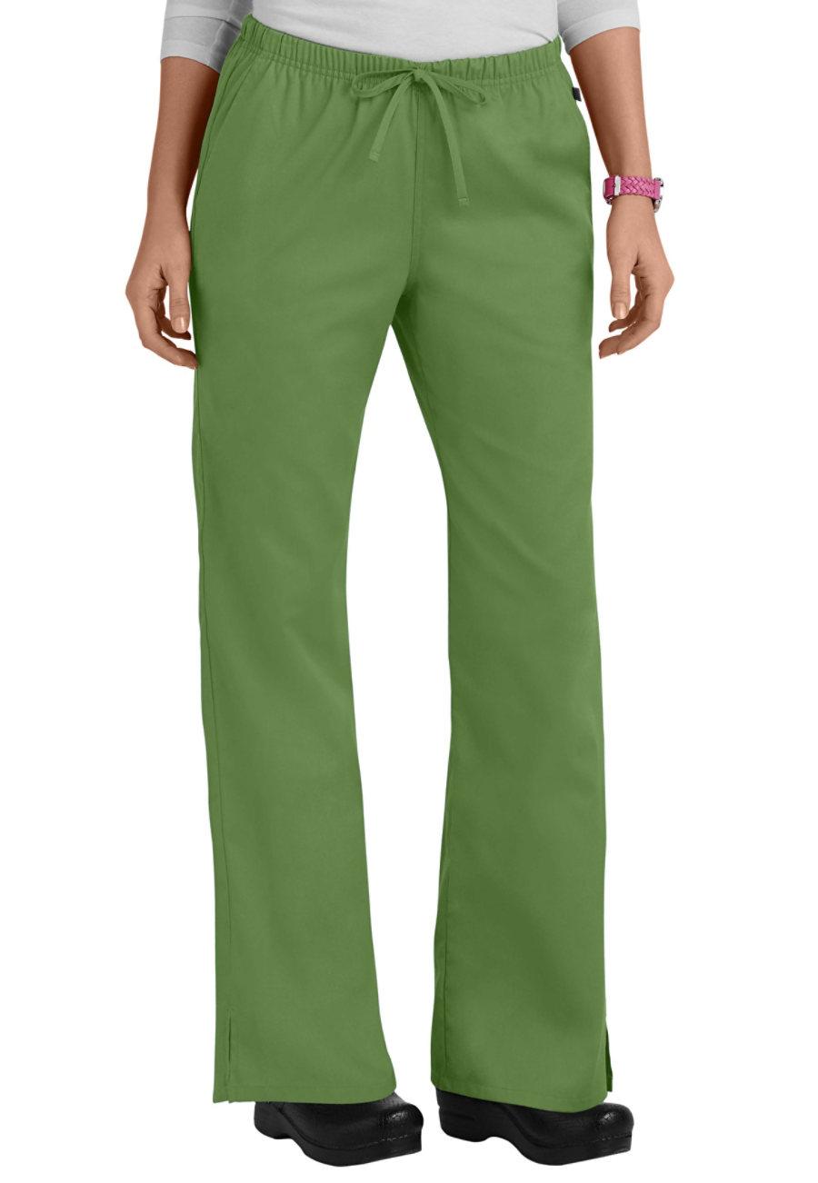 Cherokee Workwear Drawstring Flare-Leg Scrub Pants - Aloe - 3X plus size,  plus size fashion plus size appare