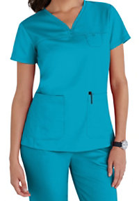 Grey's Anatomy 3 Pocket V-neck Yoke Scrub Tops