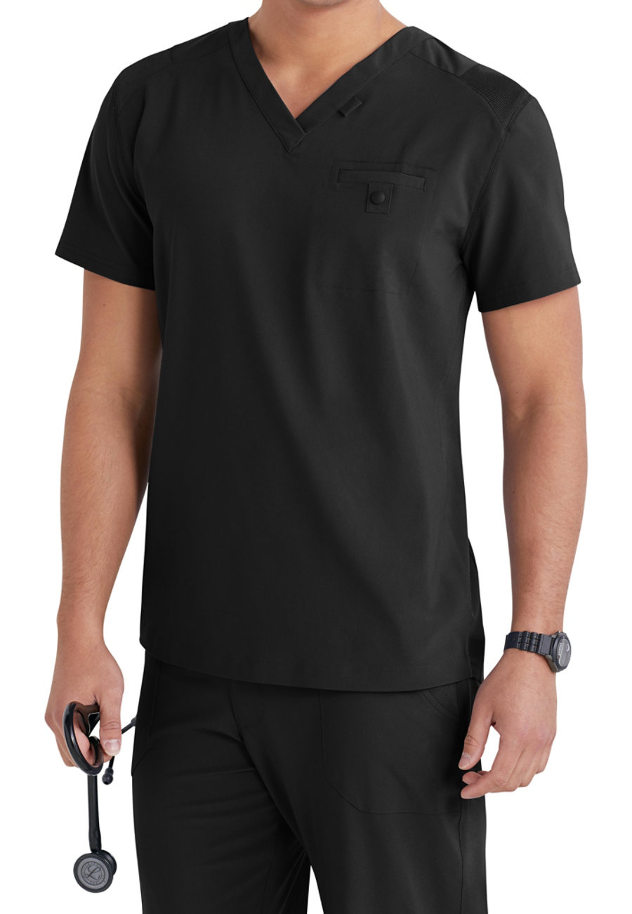 Landau Men's Media V-neck Scrub Tops