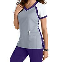 Grey's Anatomy Color Block V-neck Tops