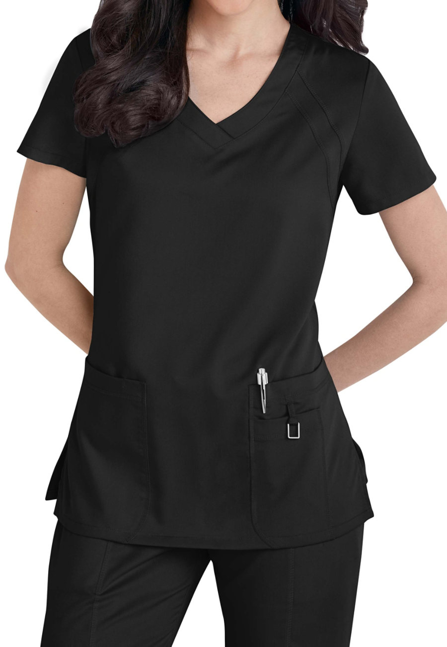 Grey's Anatomy Tonal Raglan Sleeve Scrub Tops