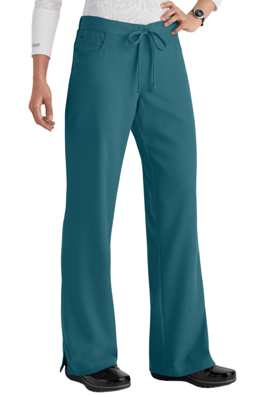 Grey's Anatomy Classic 5 Pocket Drawstring Scrub Pants - Bahama - 2X plus size,  plus size fashion plus size appare