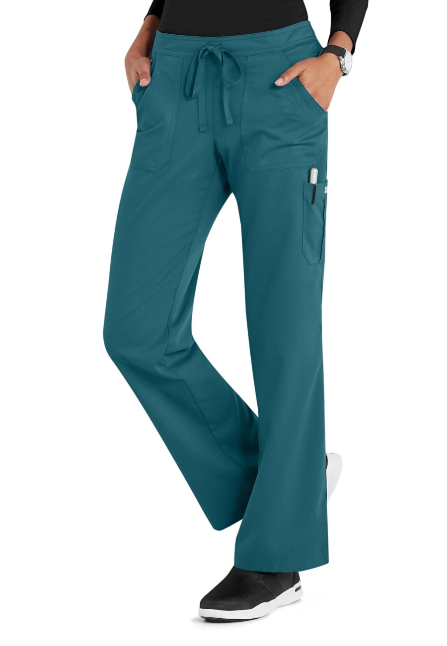 Grey's Anatomy Urban 4 Pocket Drawstring Waist Cargo Scrub Pants - Bahama - 2X plus size,  plus size fashion plus size appare