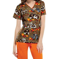 Cherokee Wild About Thanksgiving Tops