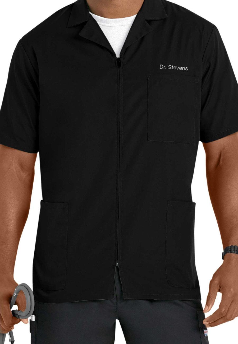 Cherokee Workwear Men's Zip Front Scrub Jackets