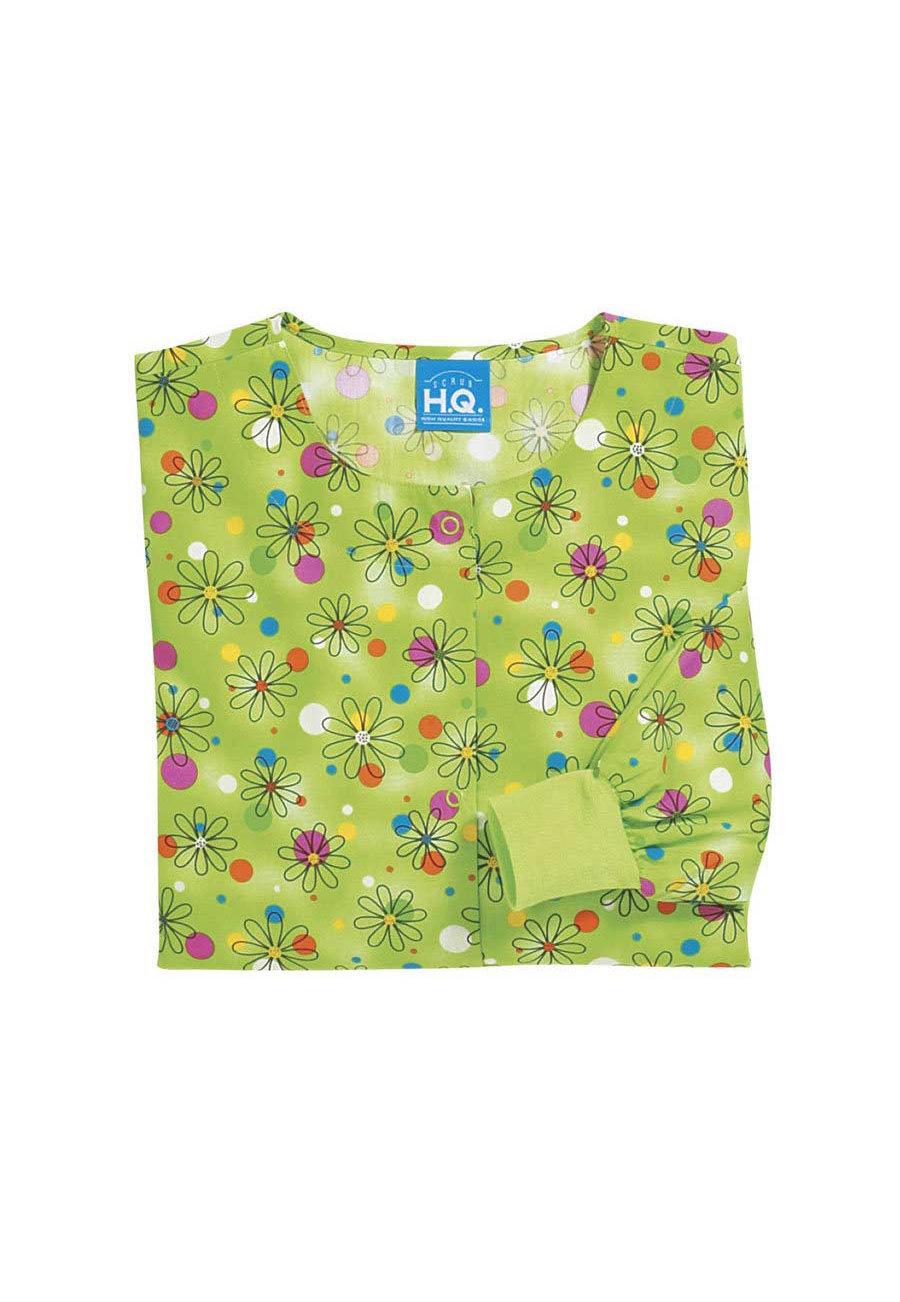 Cherokee Scrub HQ Dazzles Print Scrub Jackets - Dazzles - 3X plus size,  plus size fashion plus size appare