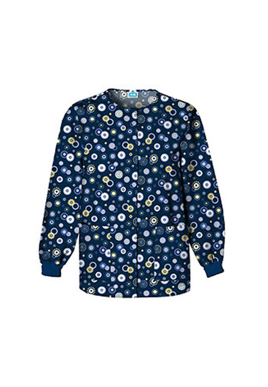 Cherokee Scrub HQ Dots Wonderful Print Scrub Jackets - Dots Wonderful