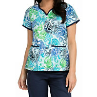 Med Couture Natasha As The Leaves Turn Print Tops