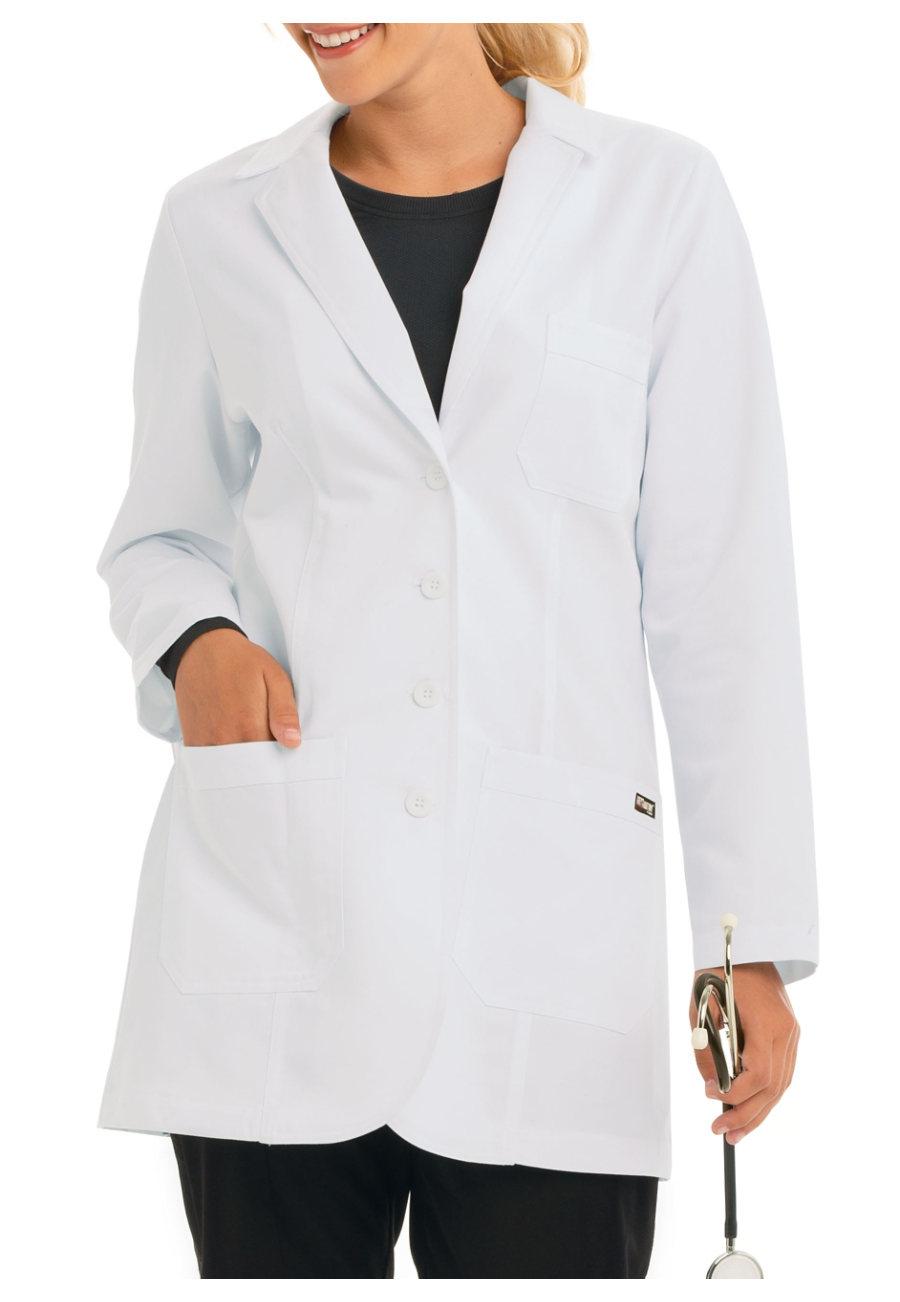 Grey's Anatomy Women's 32 Inch 3 Pocket Lab Coats - White - 2X plus size,  plus size fashion plus size appare