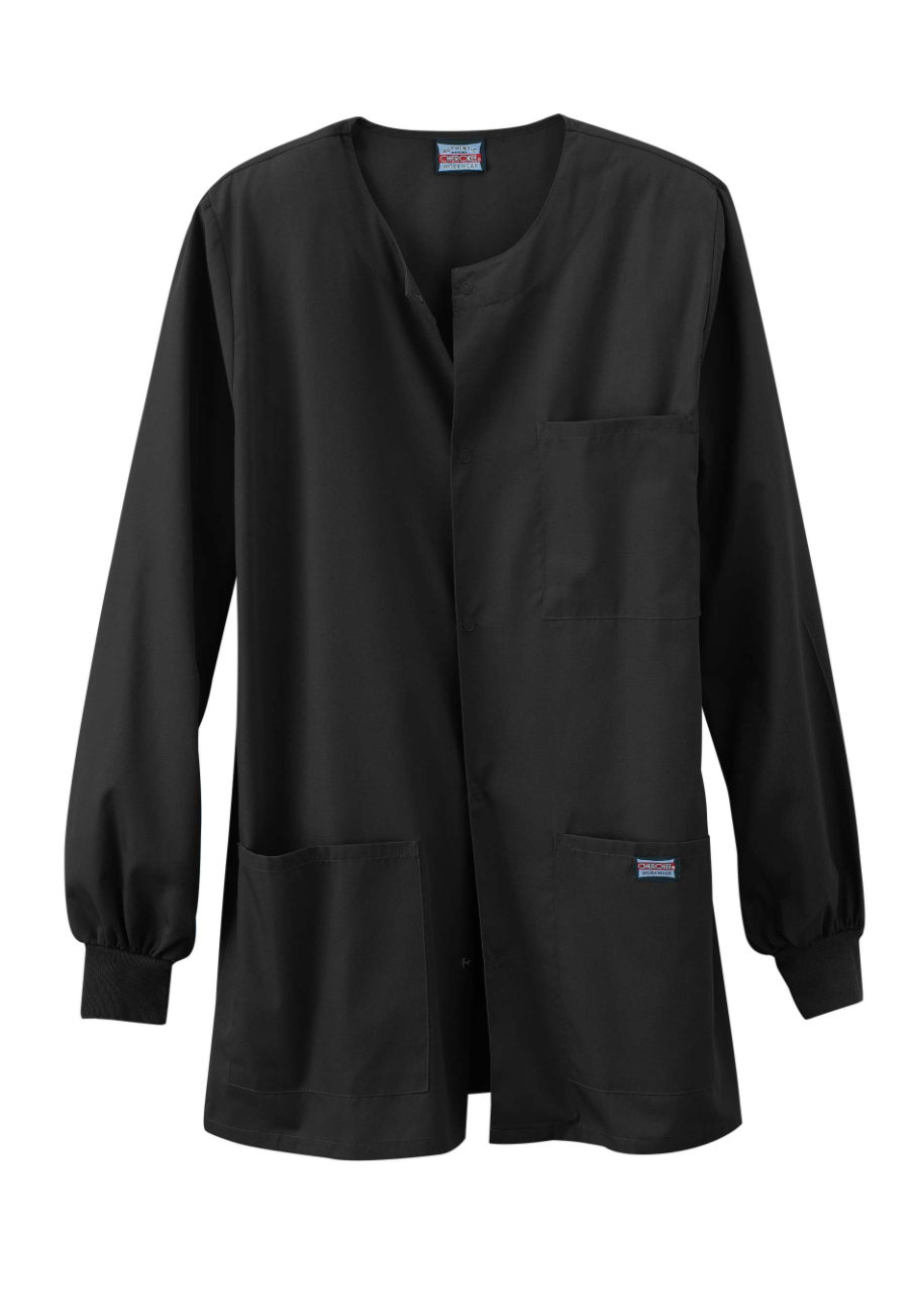 Cherokee Workwear Men's Snap Front Scrub Jackets