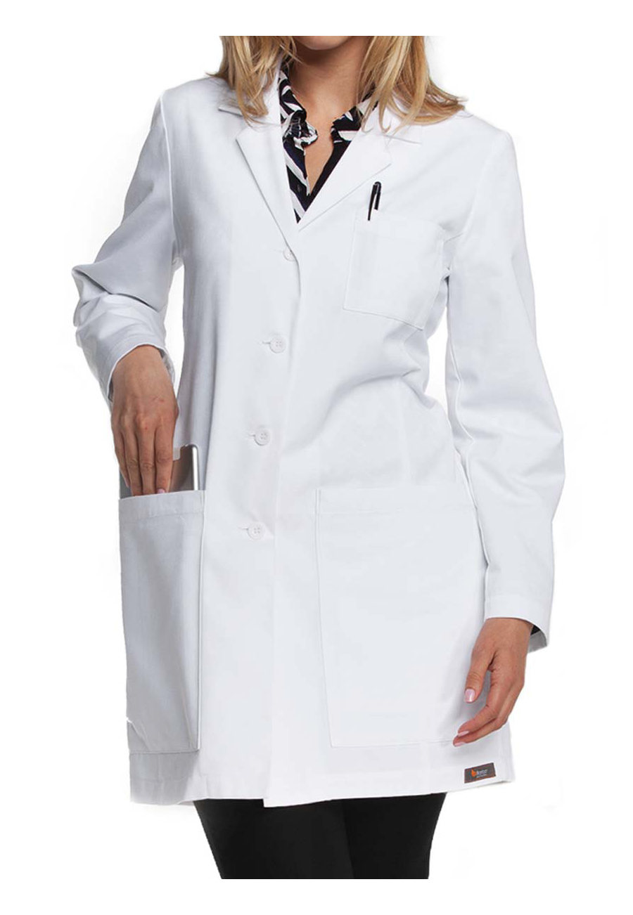 ICU By Barco Women's 34 Inch 5 Pocket Princess Seam Lab Coats