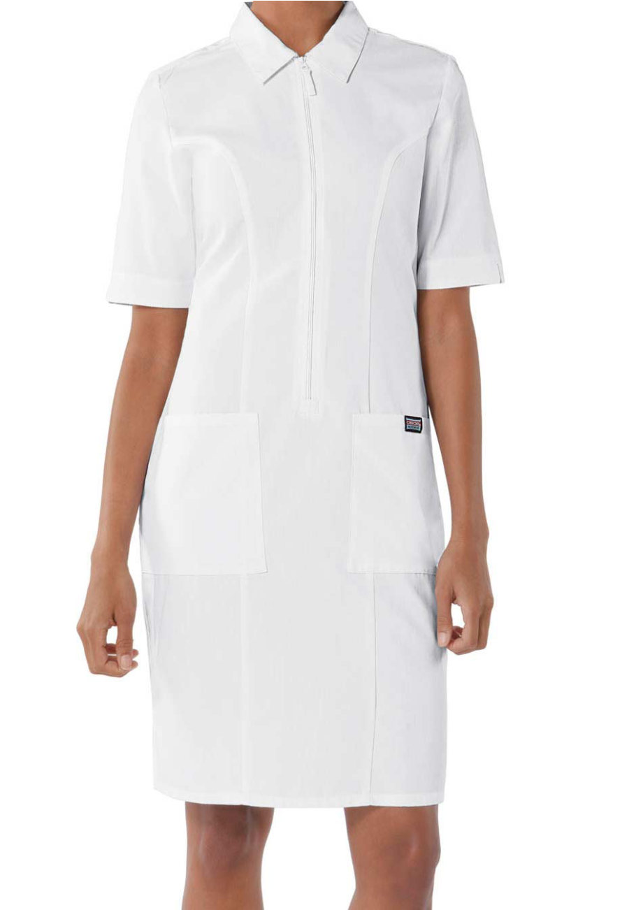 Cherokee Workwear Zip Front Scrub Dress