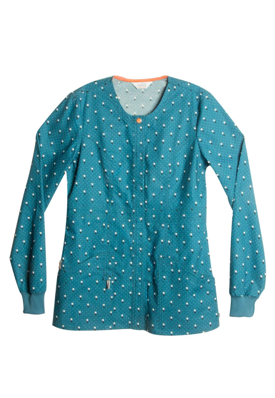 Code Happy You've Dot This Caribbean Print Scrub Jackets With Certainty - Youve Dot This Caribbean