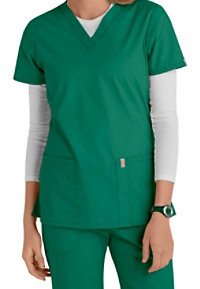 Code Happy Bliss V-neck Scrub Tops With Certainty