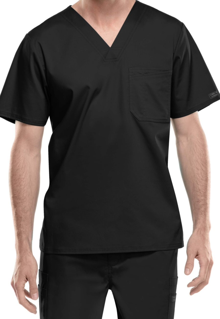 Cherokee Workwear Core Stretch Men's V-neck Scrub Tops