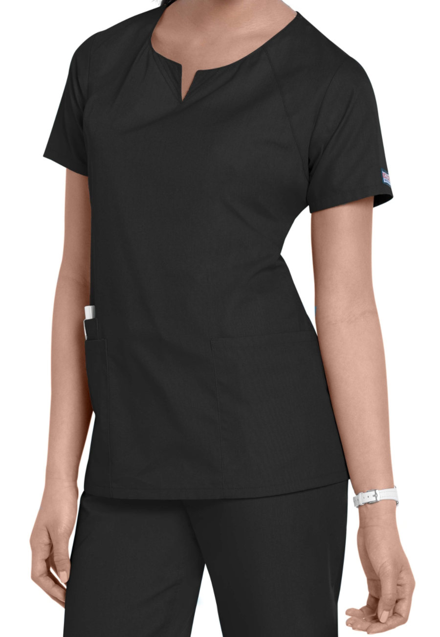 Cherokee Workwear 4 Pocket Round Neck Scrub Tops