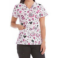Med Couture Light Hearted Print Tops