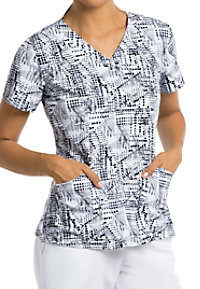 Barco One Accelerate 4 Pocket Print Scrub Tops