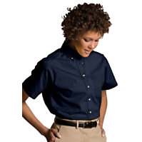 Edwards Garment Short Sleeve Women's Oxford Chef Shirt