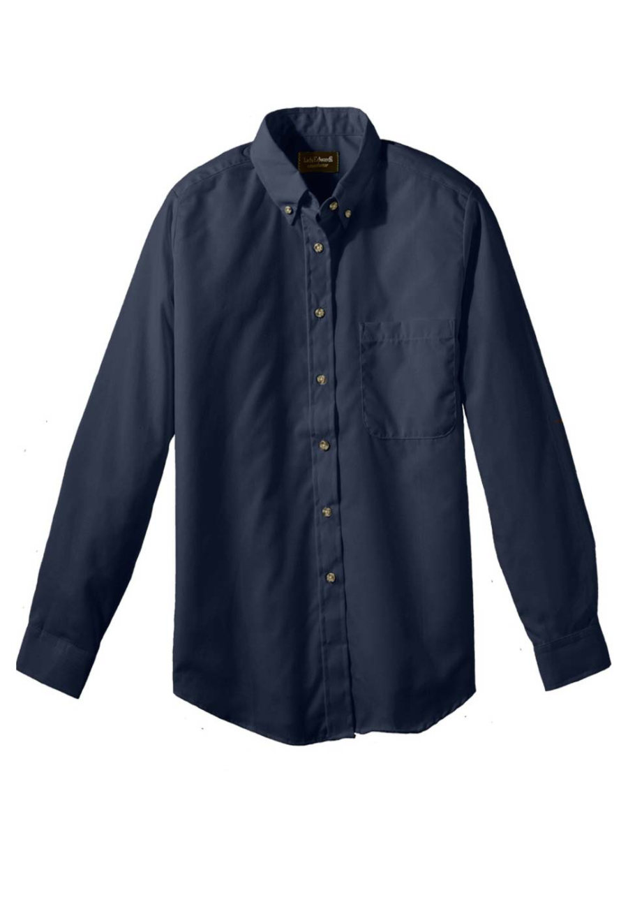 Edwards Garment Long Sleeve Women's Oxford Chef Shirts - Navy - L plus size,  plus size fashion plus size appare
