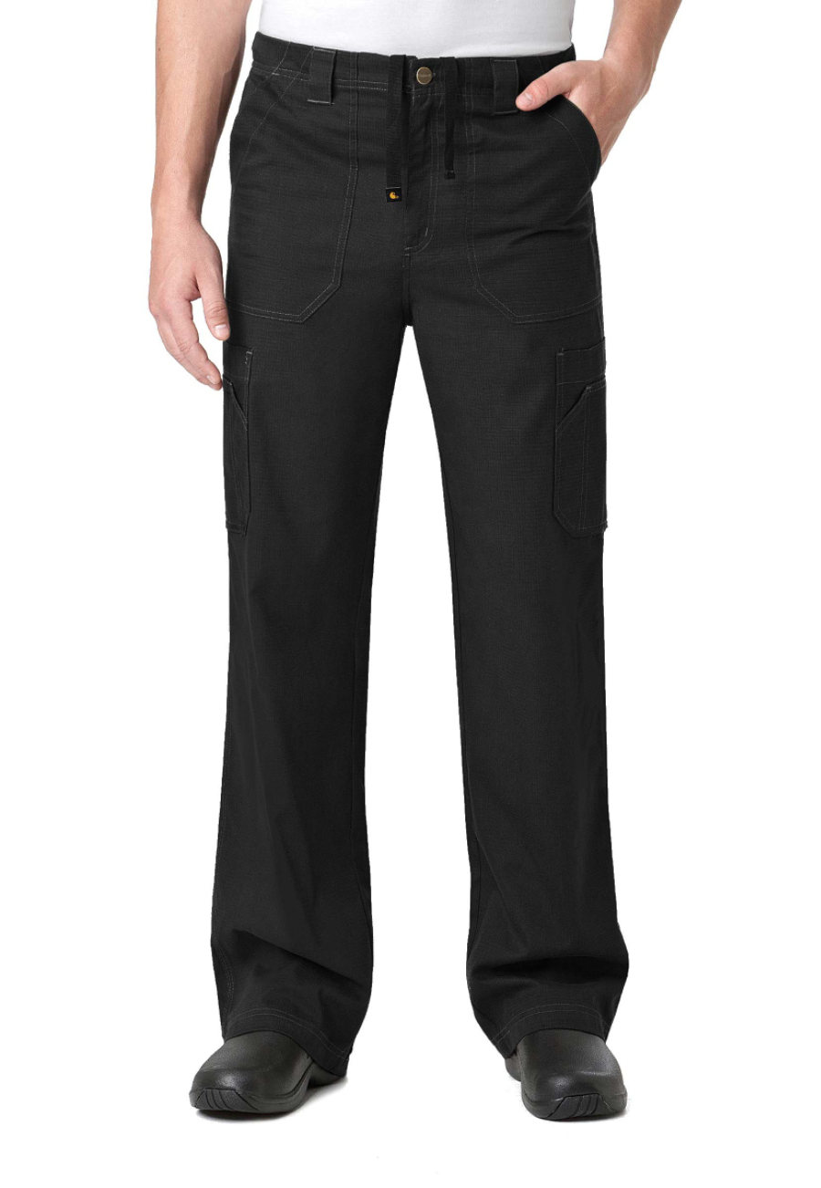 Carhartt Ripstop Men's Drawstring Cargo Scrub Pants - Black - 2X plus size,  plus size fashion plus size appare