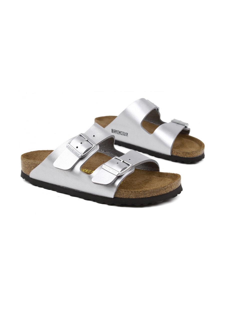 Birkenstock Professional Arizona Soft Footbed Sandals - Silver - 37 plus size,  plus size fashion plus size appare