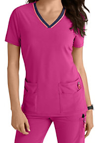 Lynx Untamed Unleashed V-neck Scrub Tops