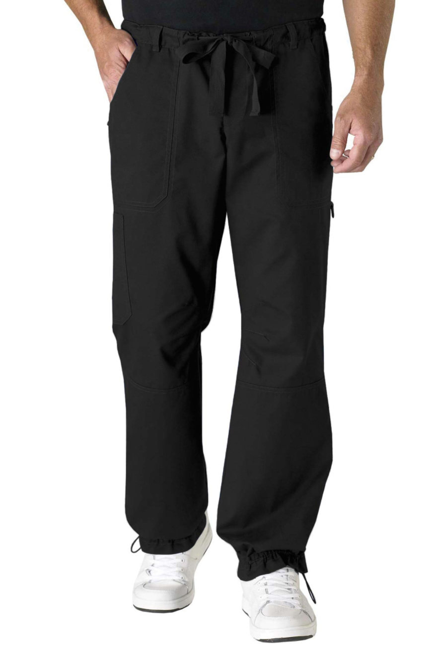 Koi James Men's Cargo Pants - Black - 2X plus size,  plus size fashion plus size appare