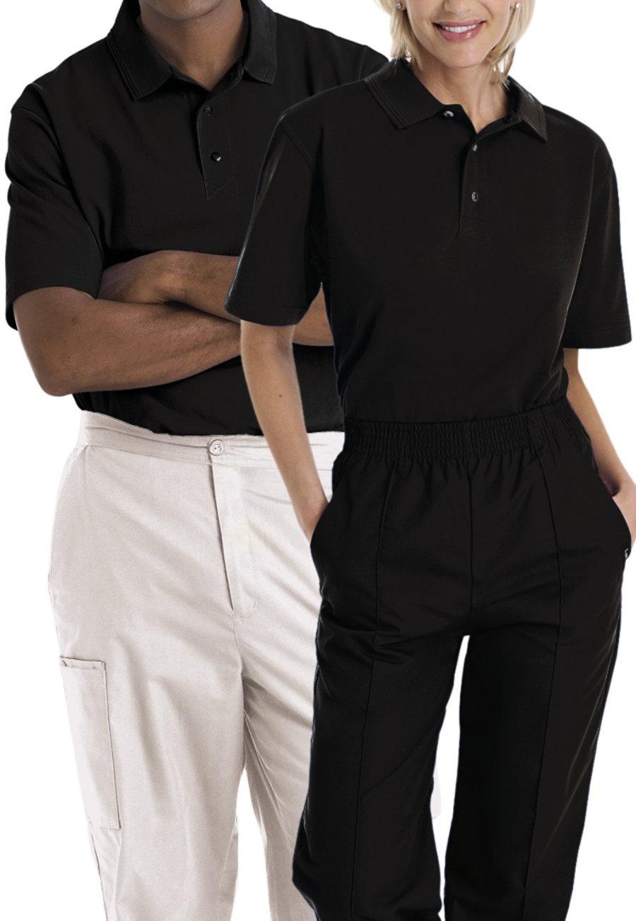 Landau Essentials Unisex Short Sleeve Knit Polo