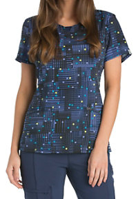 Infinity By Cherokee Pixel This Print Scrub Tops With Certainty