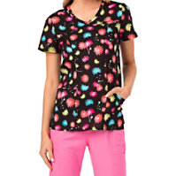 HeartSoul Seize The Daisy Cross Over Print Tops