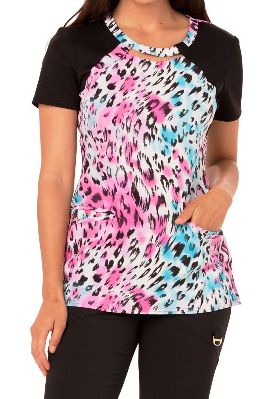 Careisma By Sofia Vergara Fiercely Flawless La Vida Leopard Print Scrub Tops - La Vida Leopard