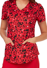 Careisma By Sofia Vergara Love Ya Babe Print Scrub Tops