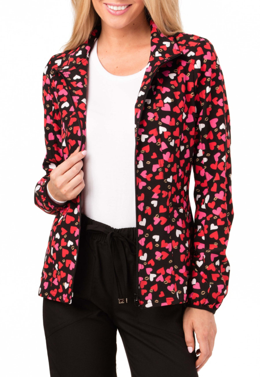 HeartSoul Heart Of Gold Hoodie Print Scrub Jackets