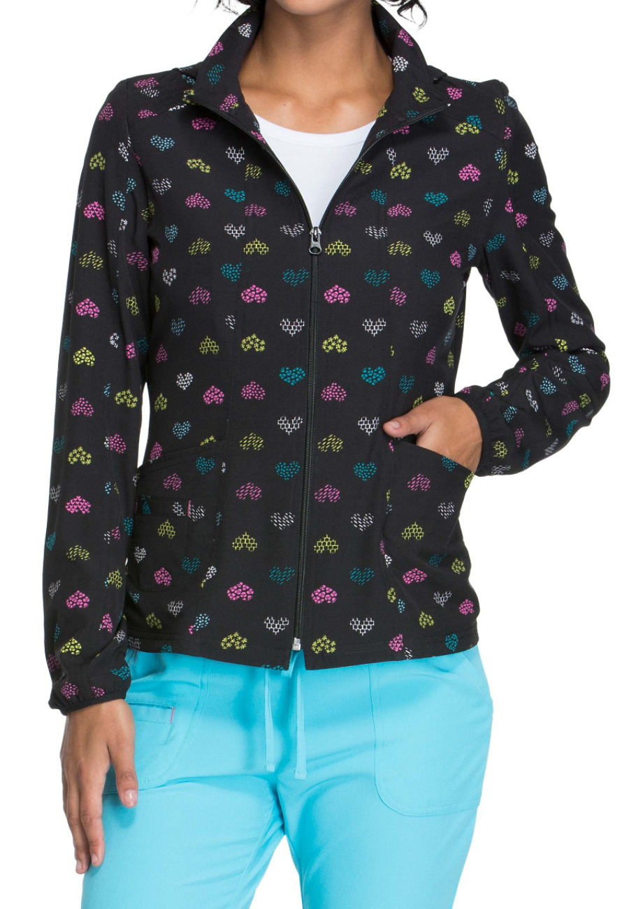 HeartSoul A Work Of Heart Print Scrub Jackets