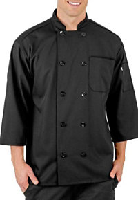 Fame Short Sleeve 10 Button Budget Chef Coat