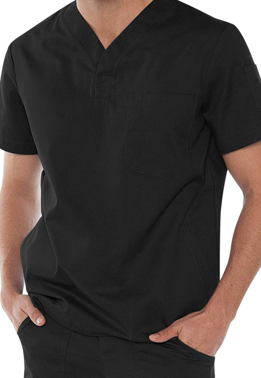 Koi Jason Men's V-neck Scrub Tops - Black - 3X plus size,  plus size fashion plus size appare
