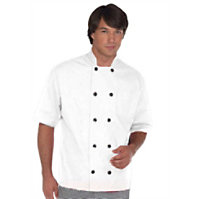 Fame Short Sleeve Button Chef Coat