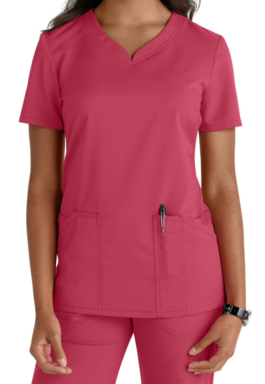 Code Happy V-neck Scrub Tops With Certaintylicious - M