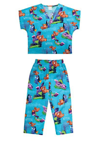 Cherokee Tooniforms Finding Nemo Kids Scrub Set