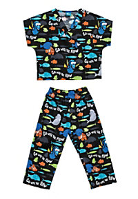 Cherokee Tooniforms Go With The Flow Kids Print Scrub Sets